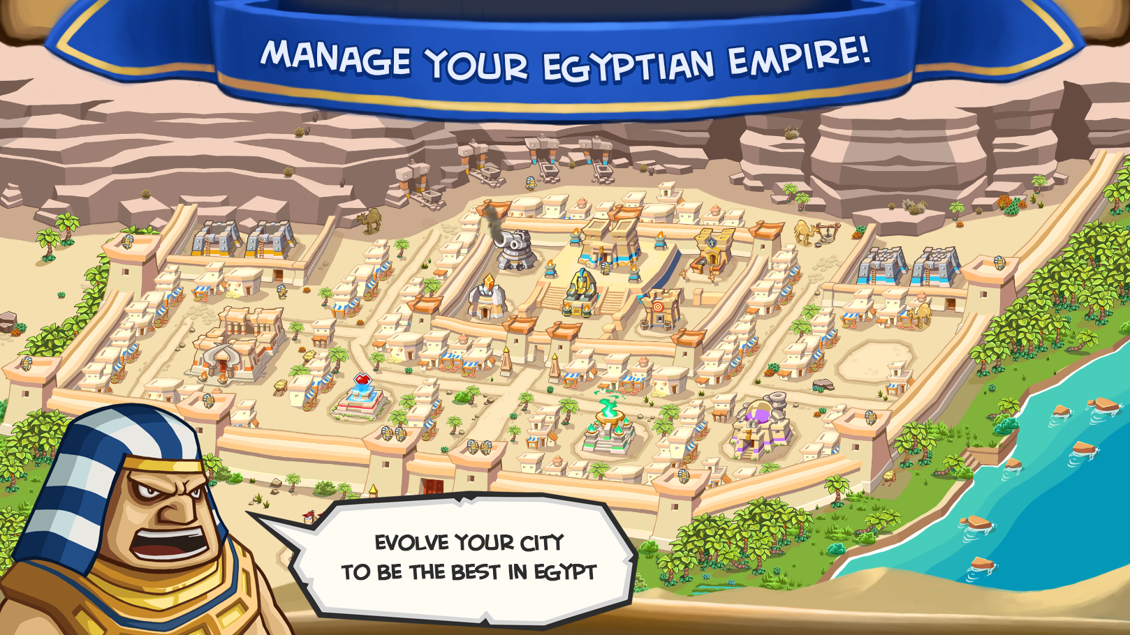 Empires of Sand - Manage your egyptian empire
