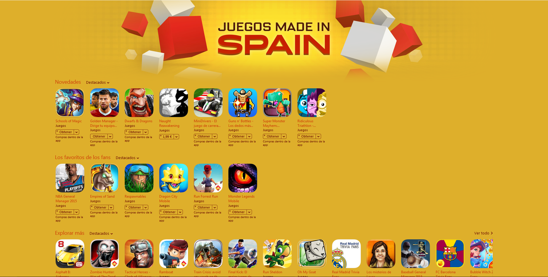 Featuring Made in Spain games itunes
