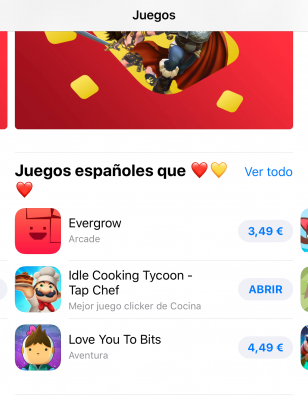 Idle Cooking Tycoon features on Spanish App Store